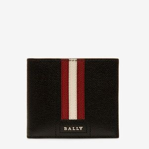Bally wallet tonett embossed in black NEW